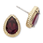 nicole by Nicole Miller Purple Stone Teardrop Stud Earrings