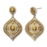 nicole by Nicole Miller Gold-Tone Metallic Bead Earrings