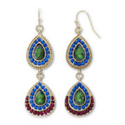 nicole by Nicole Miller Multicolor Bead Dual-Drop Earrings
