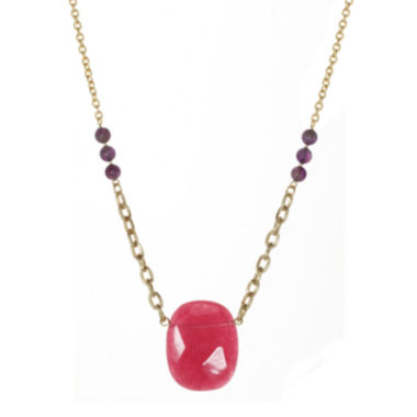 jcpenney.com | ROX by Alexa Dyed Pink Jade Necklace