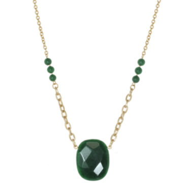 jcpenney.com | ROX by Alexa Dyed Jade Green Necklace