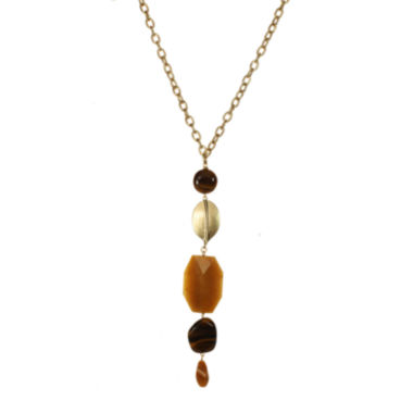 jcpenney.com | ROX by Alexa Tiger's Eye Linear Y Necklace