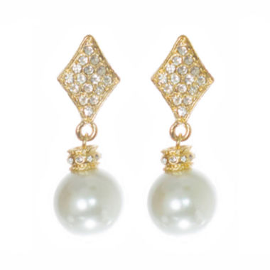 jcpenney.com | telio! by Doris Panos Gold-Tone Alysee Pearl Drop Earrings
