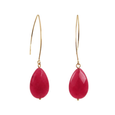 jcpenney.com | ROX by Alexa Dyed Pink Jade Earrings