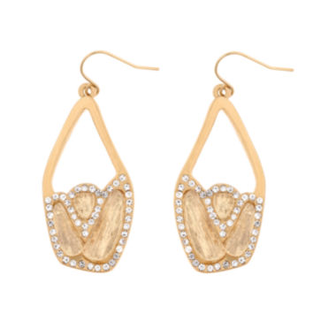 jcpenney.com | 10021 | Kara Ross Crystal Chunky Dangle Earrings