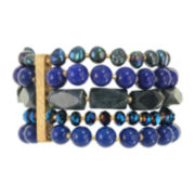 ROX by Alexa Dyed Blue Lapis Stretch 5-Strand Bracelet