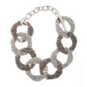 Natasha Clear & Gray Pavé Link Bracelet