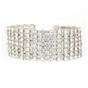 Natasha Silver-Tone Crystal Wrap Bracelet