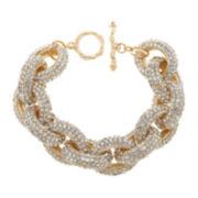 Natasha Gold-Tone Crystal Pavé Link Bracelet