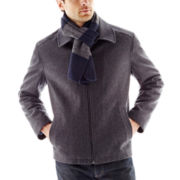 IZOD® Bomber Jacket with Rugby Scarf