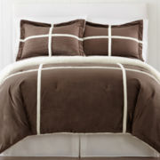 Premier Comfort Pieced Mink-Berber Down-Alternative Mini Comforter Set