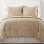 JCPenney Home Mink Solid Down-Alternative Comforter Set