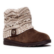 MUK LUKS® Patti Cable Knit Cuff Womens Short Boots