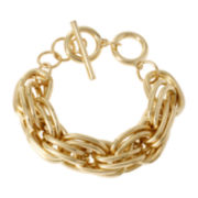 Worthington® Gold-Tone Link Toggle Bracelet