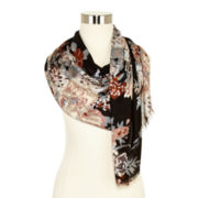 Floral Pashmina-Style Scarf