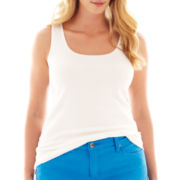 jcp™ Ribbed Tank Top - Plus