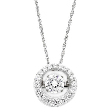 jcpenney.com | DiamonArt® Dancing Cubic Zirconia Sterling Silver Circle Pendant Necklace