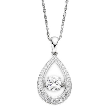jcpenney.com | DiamonArt® Dancing Cubic Zirconia Sterling Silver Teardrop Pendant Necklace