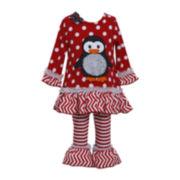 Bonnie Jean Penguin Top and Leggings Set - Girls 2t-4t