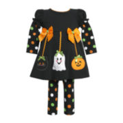 Bonnie Jean 2-pc. Halloween Leggings Set - Girls 4-6x