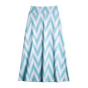 by&by Girl Chevron Print Maxi Skirt - Girls 7-16