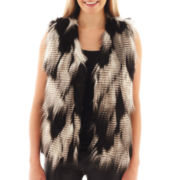 XOXO® Sleeveless Faux Fur Vest