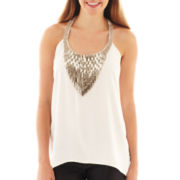 XOXO® Sleeveless Embellished Tank Top