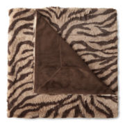 Madison Park™ Chapman Zebra Long-Fur Throw