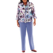 Alfred Dunner® Lake Como Watercolor Floral Blouse or Pull-On Pants - Plus