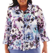 Alfred Dunner® Lake Como Watercolor Floral Blouse - Plus