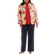 Alfred Dunner® San Antonio Floral Quilted Jacket, Sweater Shell or Pull-On Pants