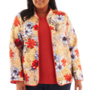 Alfred Dunner® San Antonio Floral Quilted Jacket - Plus