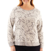 Liz Claiborne Long-Sleeve Lace Sweatshirt - Plus