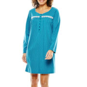 Earth Angels® Long-Sleeve Short Knit Nightgown