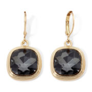 Monet® Gray Stone Gold-Tone Drop Earrings