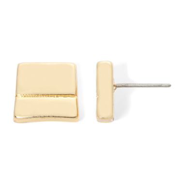 jcpenney.com | Liz Claiborne® Gold-Tone Square Stud Earrings
