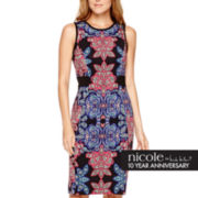 nicole by Nicole Miller® Sleeveless Paisley Print Sheath Dress