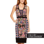 nicole by Nicole Miller® Sleeveless Mixed Print Sheath Dress