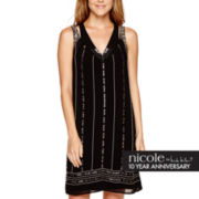 nicole by Nicole Miller® Sleeveless Beaded Trapeze Dress
