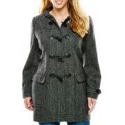 Liz Claiborne® Wool-Blend Toggle Coat - Tall