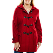 Liz Claiborne® Wool-Blend Toggle Coat - Plus