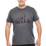 adidas® Illuminated Logo Tee - Big & Tall
