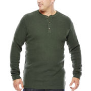 The Foundry Supply Co.™ Long-Sleeve Waffle Henley - Big & Tall