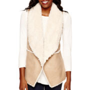by&by Faux-Shearling Vest