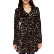 by&by Animal Print Faux-Fur Jacket