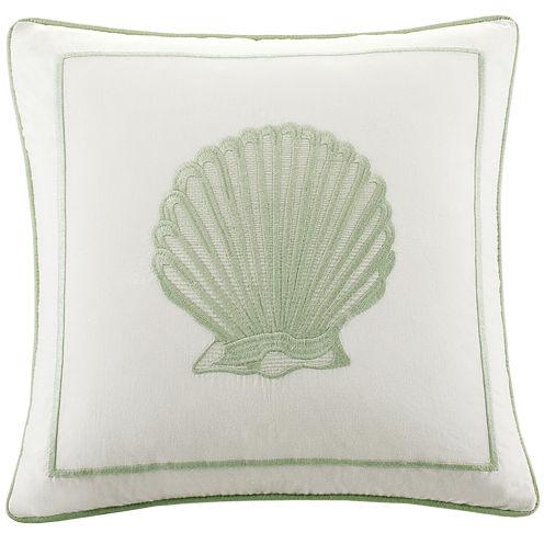 "Harbor House Brisbane Seashell 16"" Square Decorative Pillow"