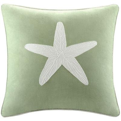 "Harbor House Brisbane Starfish 18"" Square Decorative Pillow"
