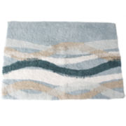Sketchbook Waves Bath Rug