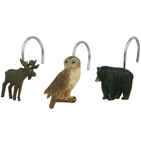 Bacova Lodge Memories Shower Curtain Hooks