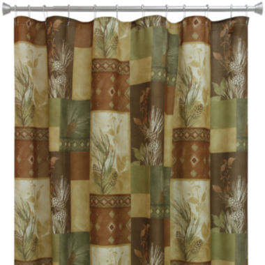 jcpenney.com | Bacova Pinecone Silhouette Shower Curtain